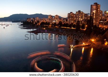 Urban Light Show - stock photo