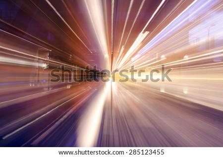 Urban Light Streaks - stock photo
