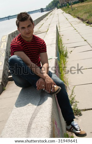 Urban man - stock photo