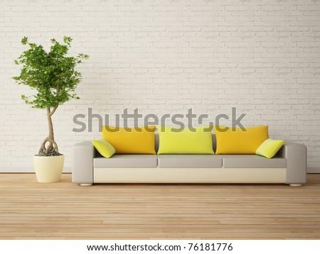 Urban modern interior - stock photo
