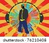 urban music people - stock vector