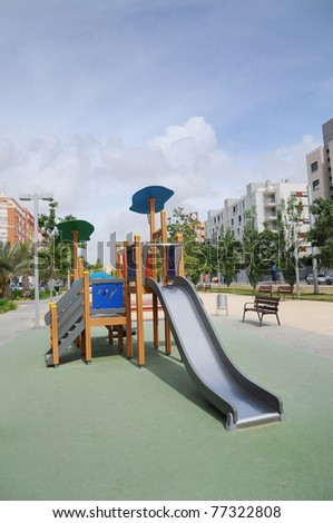 Urban Outdoor Playground Park at Midday - stock photo