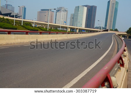 Urban overpass and road intersection