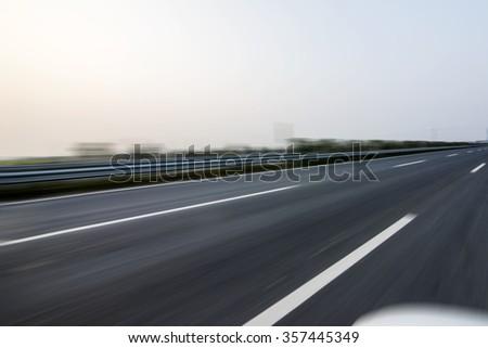 Urban road construction - stock photo