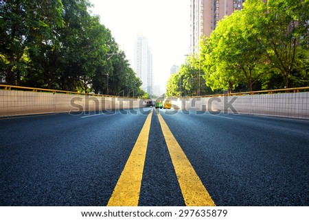urban road in modern city - stock photo