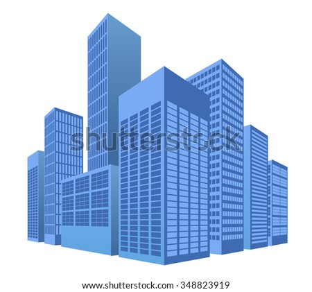 urban scene, city illustration