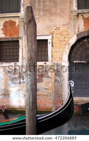 Urban scenic of Venice with Gondola, Italy