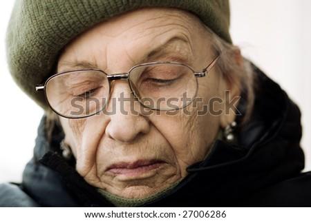 urban senior - stock photo