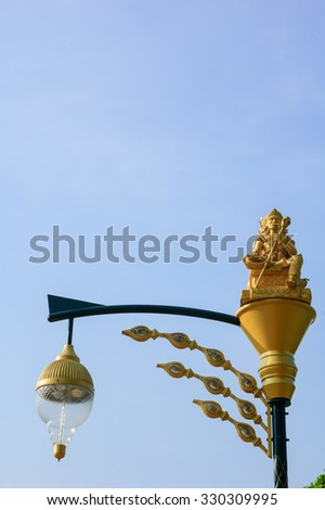 Urban street light with Thai pattern