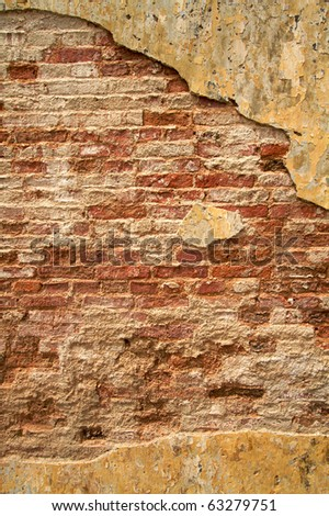 Urban texture, brick wall with plenty of room for text - stock photo