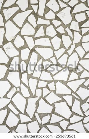 Urban triangular tiles wall decoration - stock photo