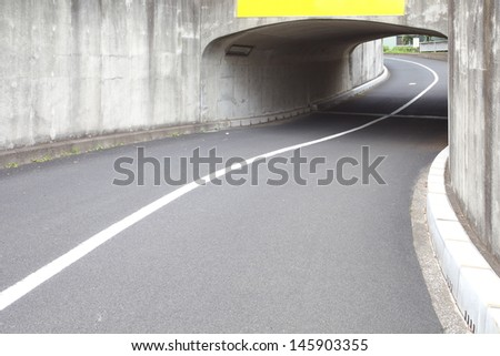 urban tunnel without traffic  - stock photo