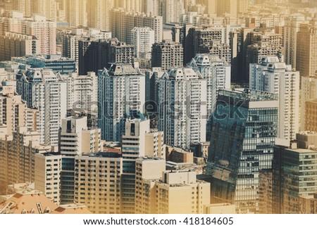 Urban view in Beijing, China. - stock photo