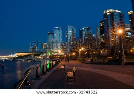 Urban Waterfront District - stock photo