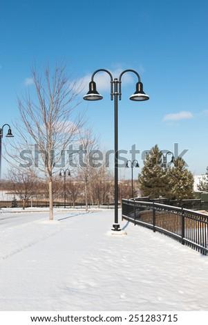 Urban winter scene  - stock photo