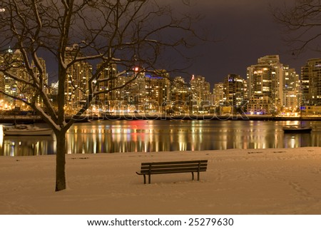 Urban Winter Wonderland - stock photo