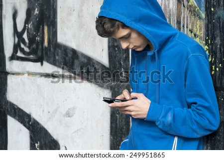 urban woman with mobile phone - stock photo