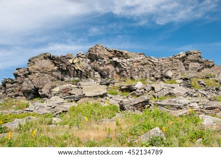 Urenga mountain ridge, South Ural, Russia
