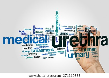 Urethra word cloud - stock photo
