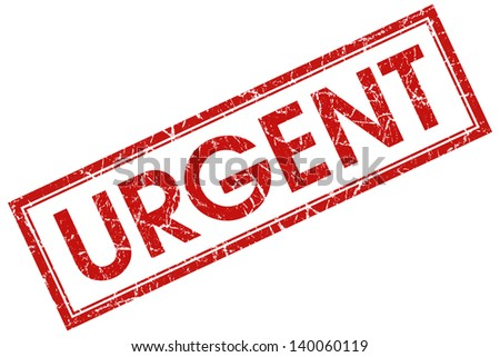 urgent stamp - stock photo