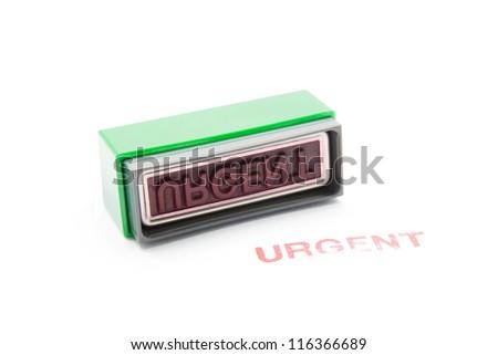 urgent stamp on white background - stock photo