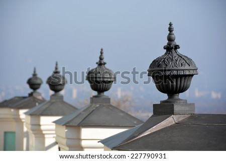 Urns in architecture - stock photo