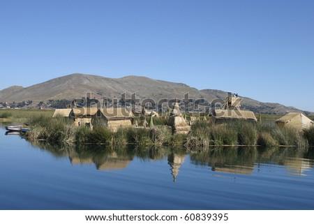 Uros island - stock photo