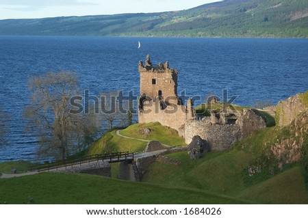 Urquhart Castle - stock photo