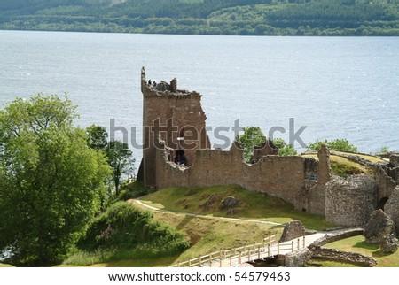 Urquhart Castle - stock photo
