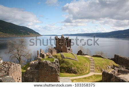 Urquhart Castle, Scotland - stock photo