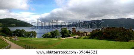 Urquhart Castle, Scotland, United Kingdom - stock photo