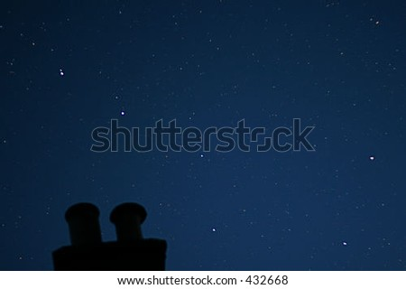 "Ursa Major (""The Plough"" or ""Big Dipper"") star constellation. - stock photo"