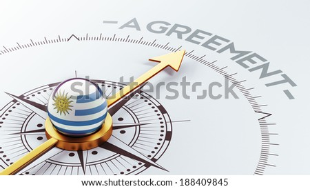 Uruguay High Resolution Agreement Concept - stock photo