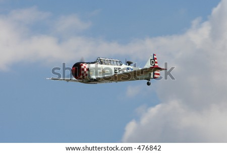 US air force Harvard - stock photo