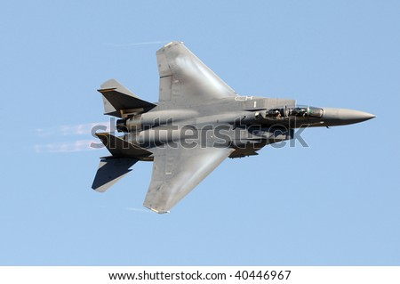 US Air Force jet at high speed - stock photo