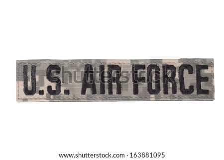 US AIR FORCE uniform badge - stock photo