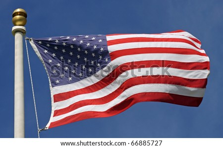 US-American Flag - stock photo