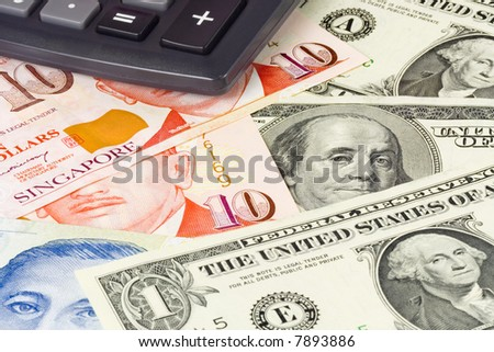 US and Singapore currency pair commonly used in forex trading with calculator