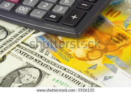 US and Swiss currency pair commonly used in forex trading with calculator