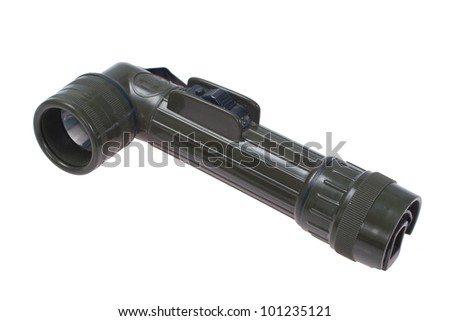 US Army Flash Light on white background