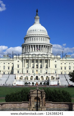 US Capitol Building in Washington, DC - stock photo