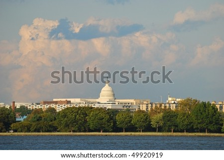 US Capitol building in Washington DC - stock photo