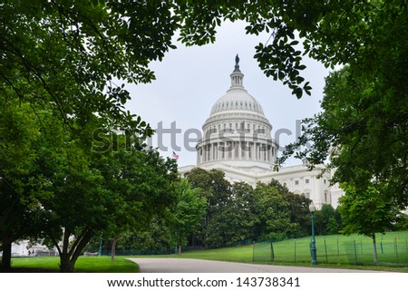 US Capitol Building in Washington DC United States