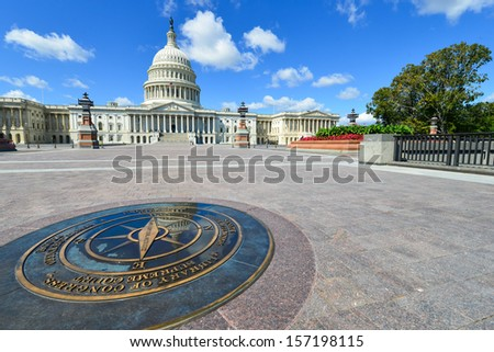 US Capitol Building in Washington DC, United States - East facade - stock photo