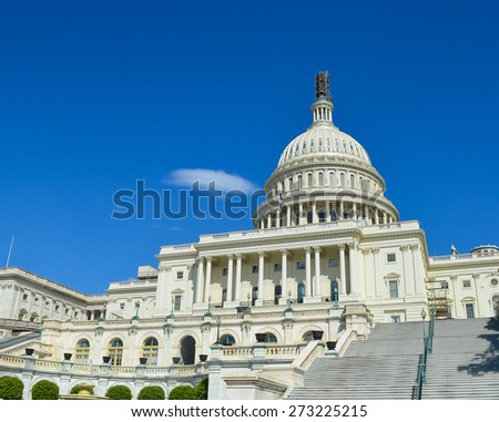 US Capitol building in Washington DC, USA. - stock photo