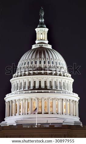 US Capitol Dome Close Up Congress House Washington DC