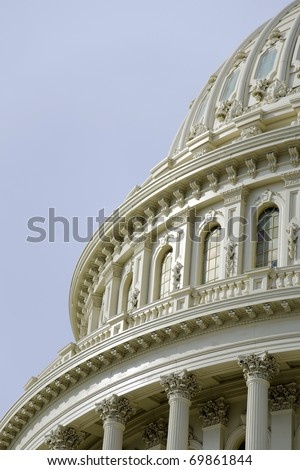 US Capitol dome detail - stock photo