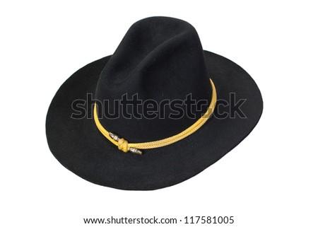 US Cavalry hat isolated - stock photo