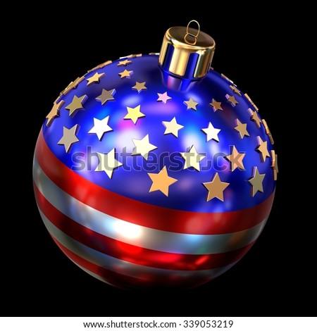 US Christmas ball  - stock photo