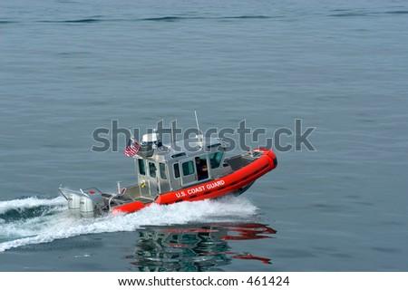 US Coast Guard on duty - stock photo